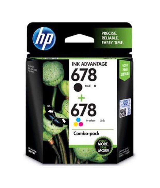 HP 678 Twin Pack Black Ink