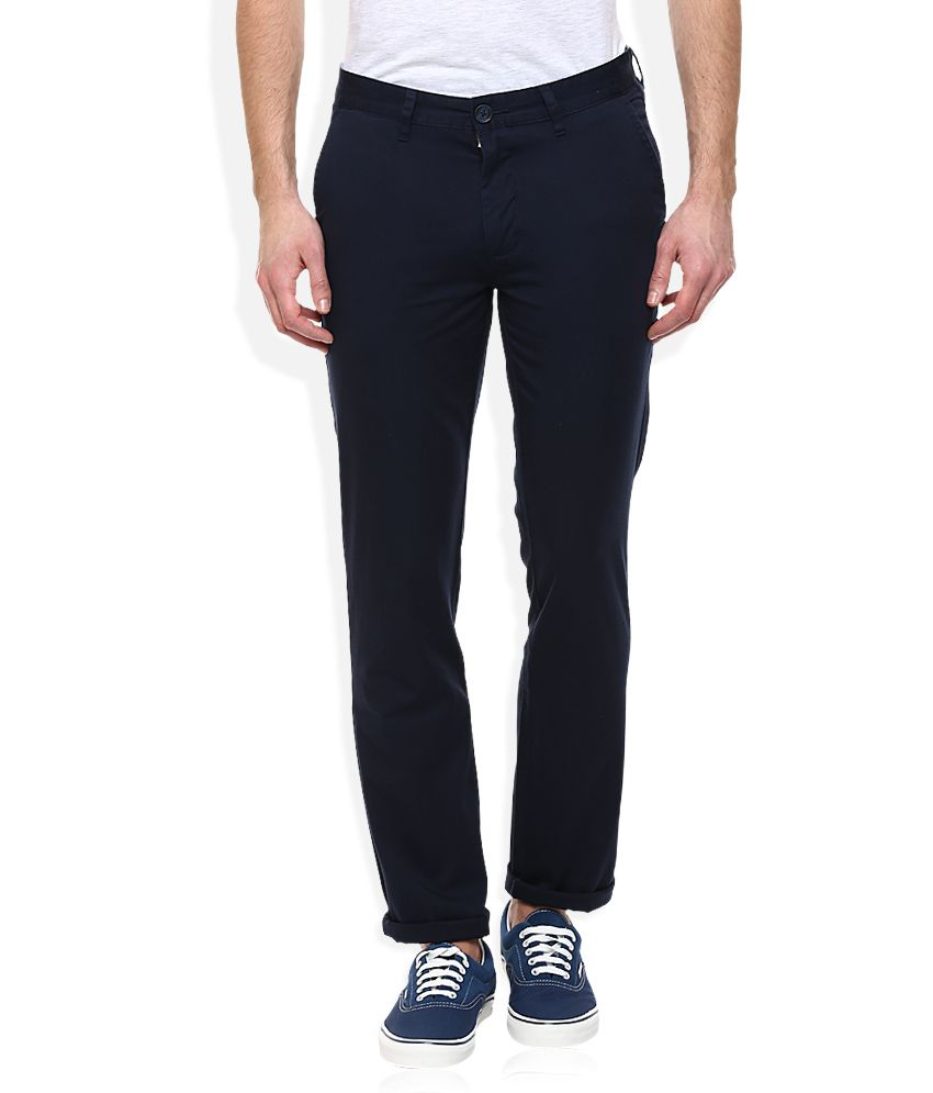 John Players Navy Slim Fit Chinos