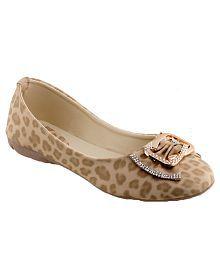 Shoe Lab Beige Ballerinas