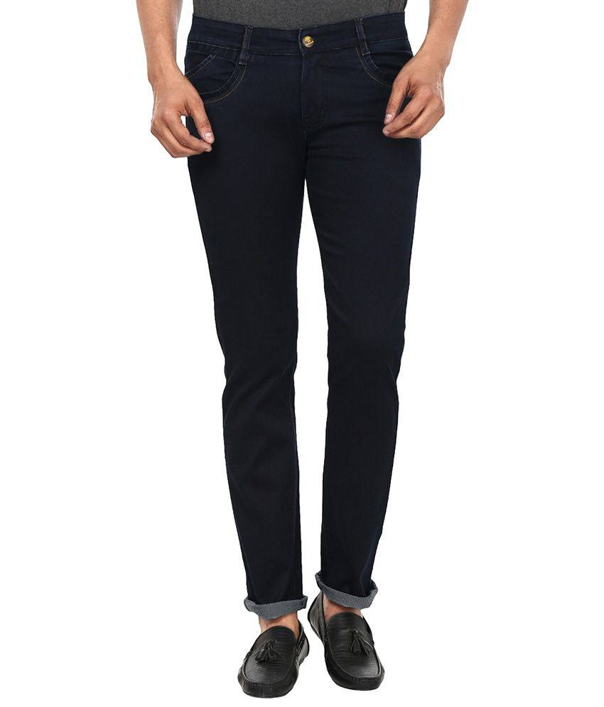 99 Degrees Navy Slim Fit Jeans