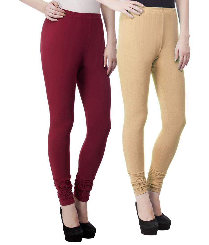 c8637f6c85 Aadhar Creations Best Quality Combo of Mehroon and Skin Cotton Leggings  Price in India - Buy Aadhar Creations Best Quality Combo of Mehroon and Skin  Cotton ...