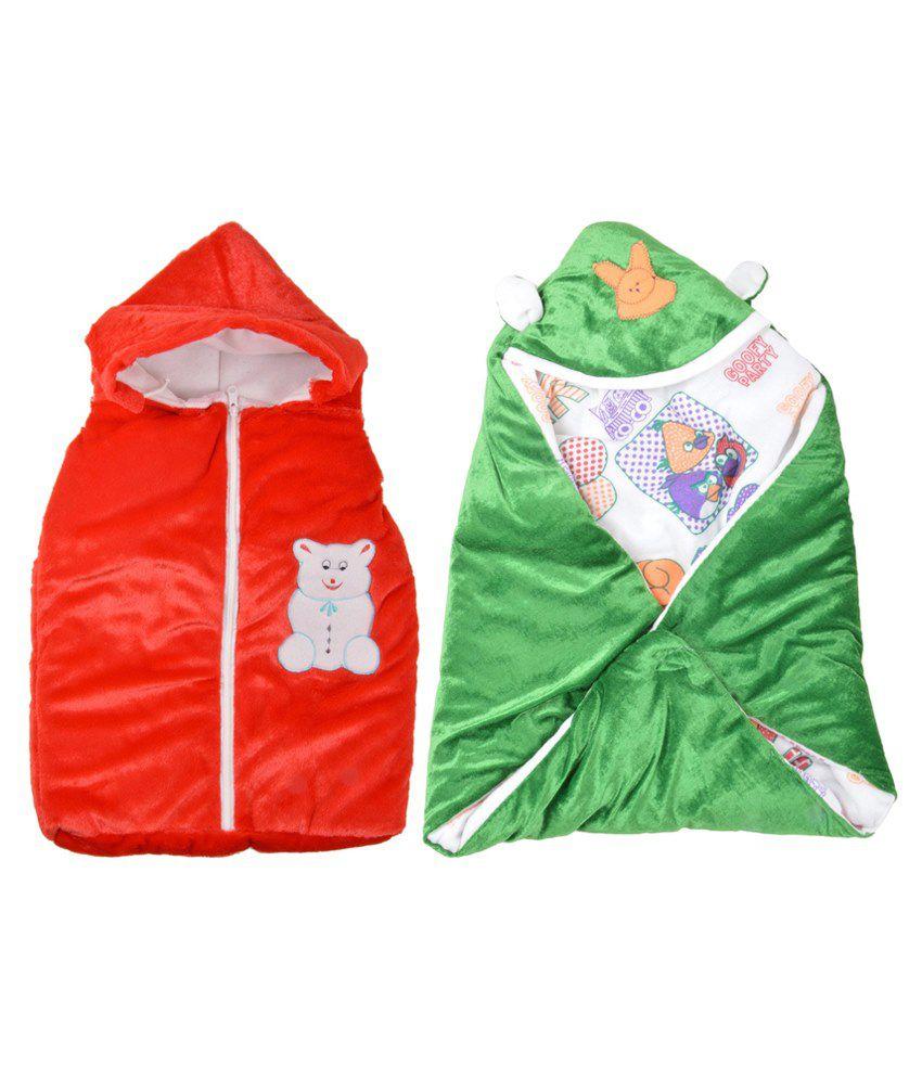 Royal Shri Om Multicolour Polycotton Baby Wraps Set Of 2 For Boys & Girls