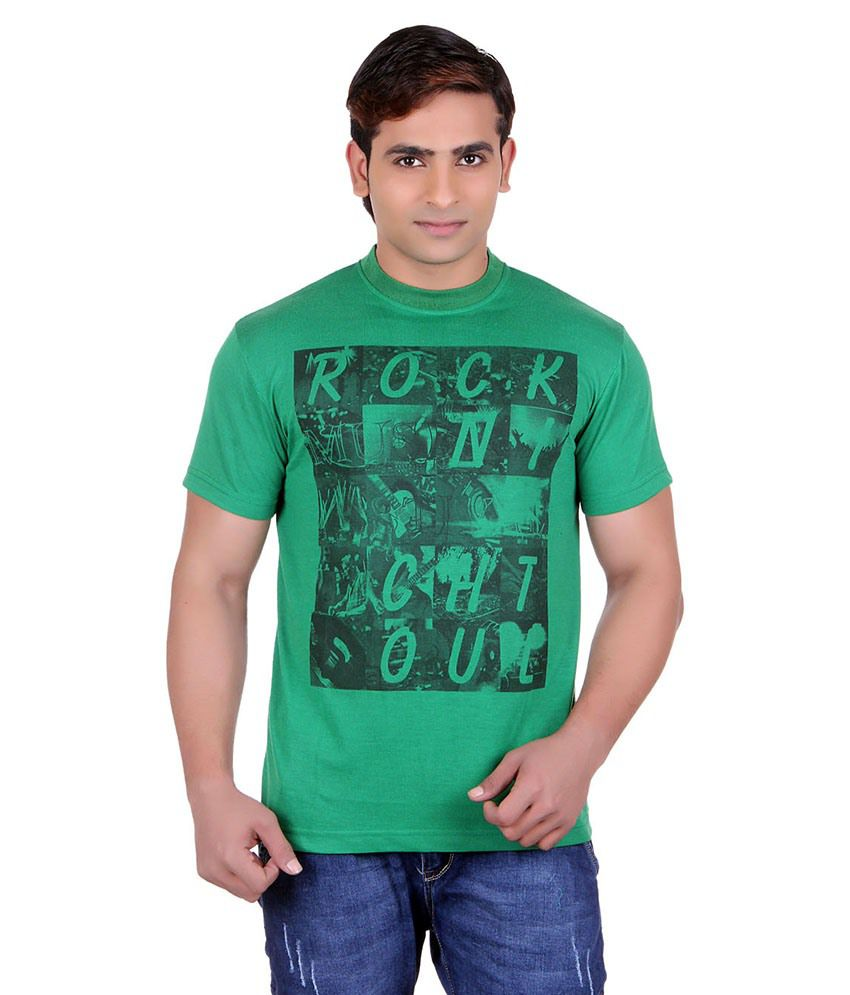 Runn93 Green Round Neck T-shirt