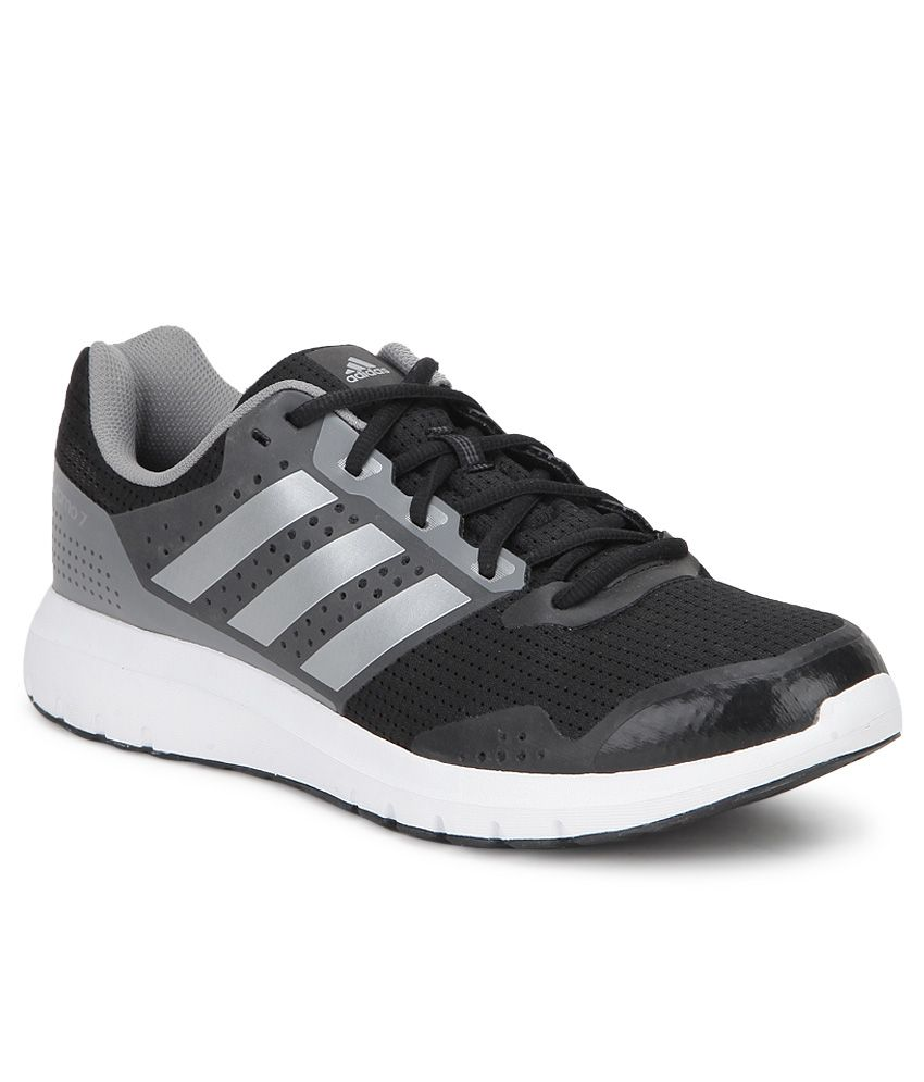 new product 7adce e82de Adidas Duramo 7 Black Running Sports Shoes - Buy Adidas Duramo 7 Black  Running Sports Shoes Online at Best Prices in India on Snapdeal
