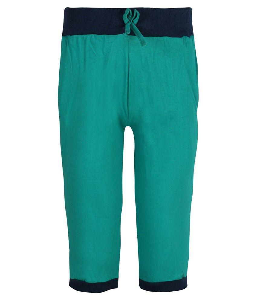 Jazzup Green Capri For Girls