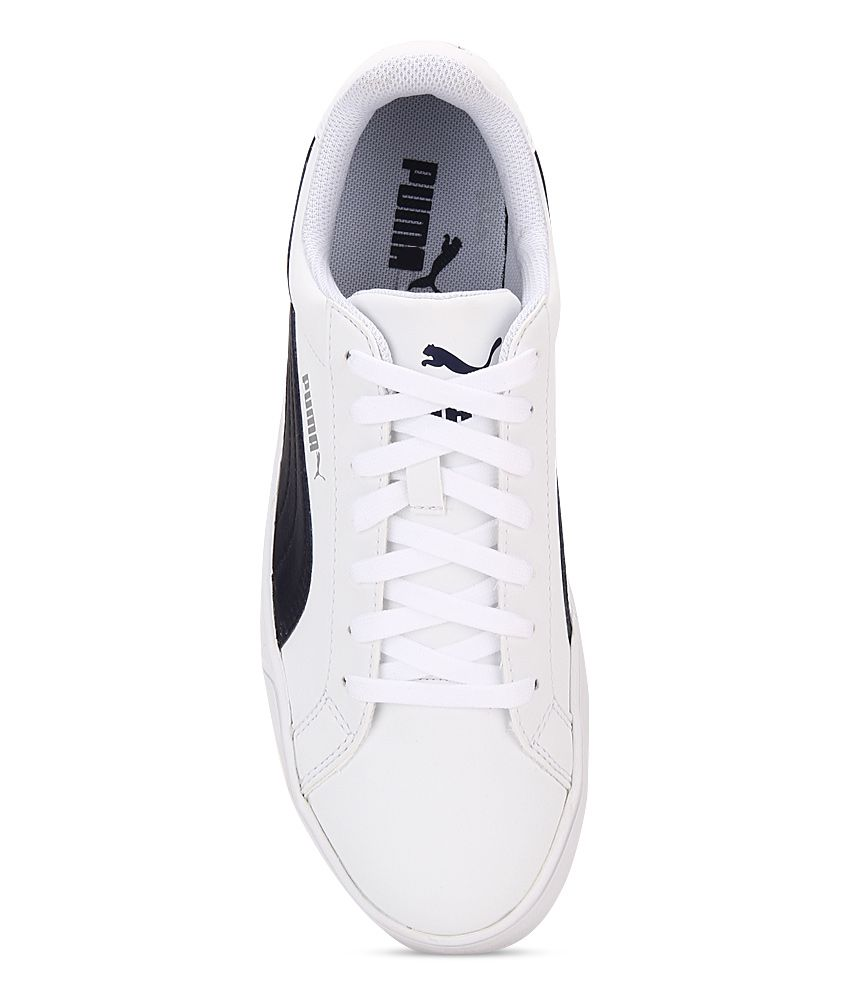 Puma Smash Vulc White Lifestyle Casual Shoes