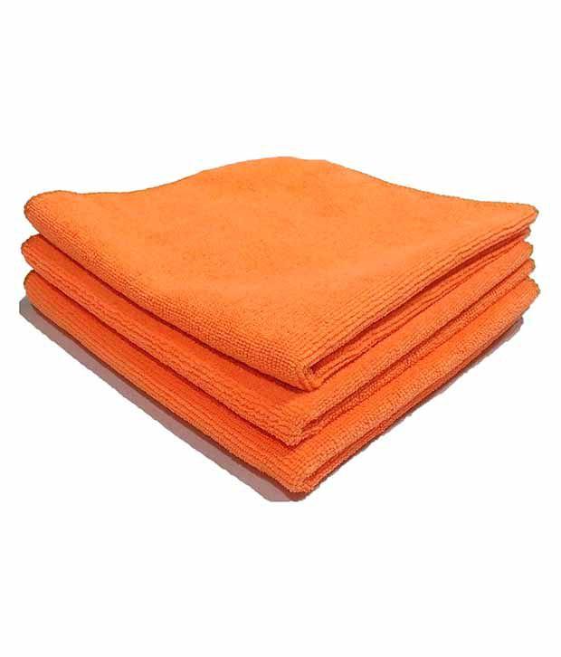 Microfiber Cloth Dusting: Softspun Orange Microfiber Home, Kitchen, Bathroom Dusting