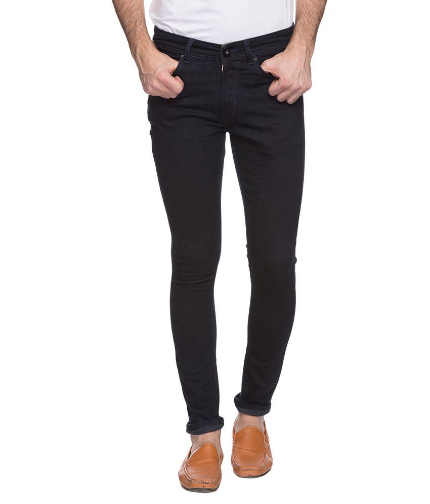 Spykar Navy Skinny Fit Jeans