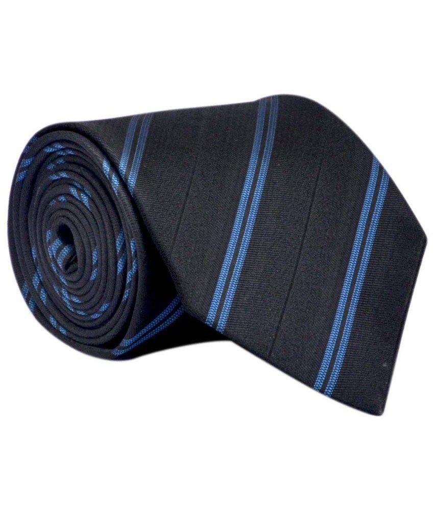 Bizarro.in Black Micro Fiber Formal Necktie