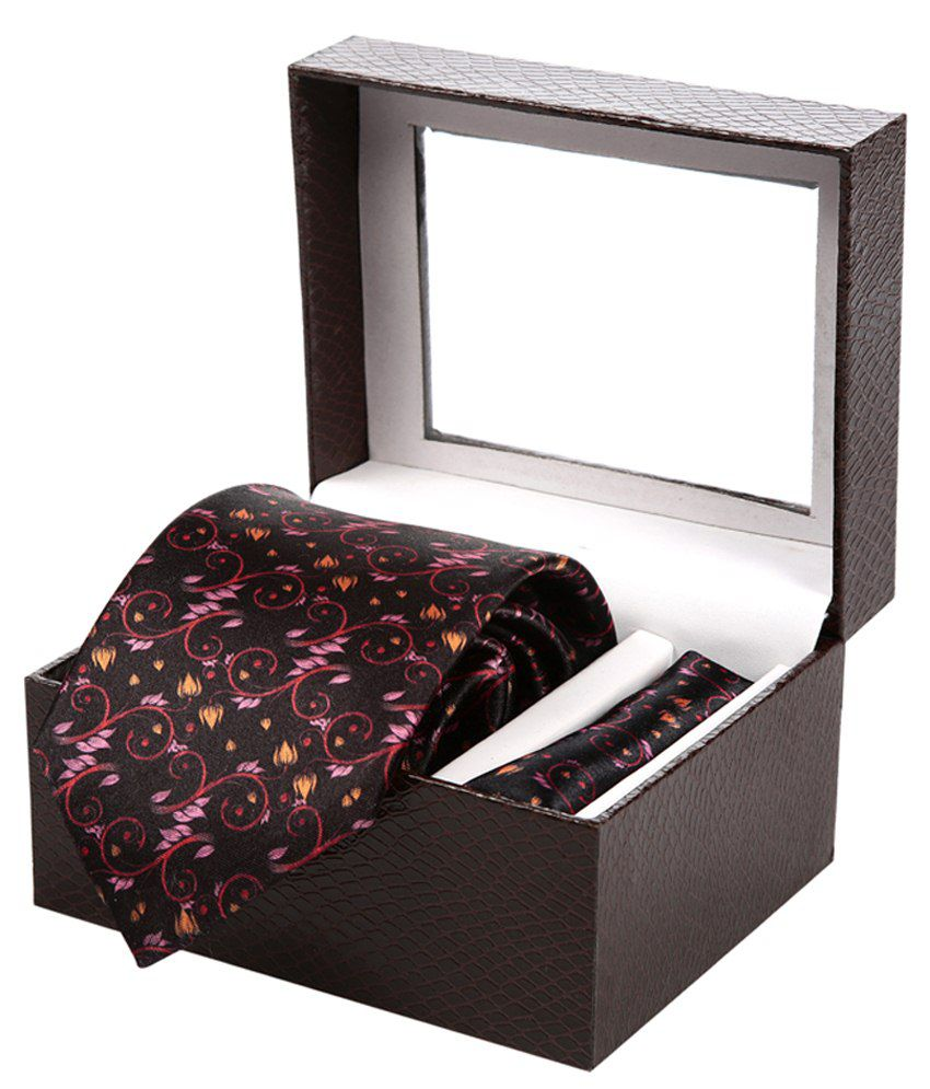 Sir Michele Multicolour Casual Tie & Hanky Set Of 2