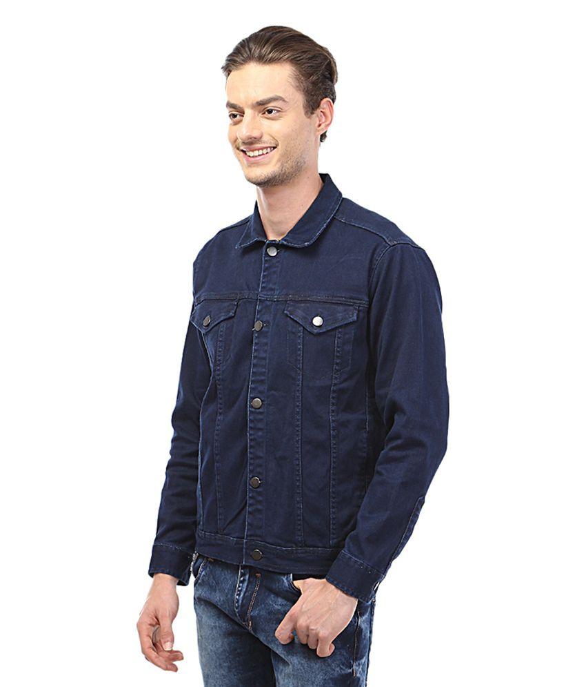 Navy blue denim jacket – Modern fashion jacket photo blog