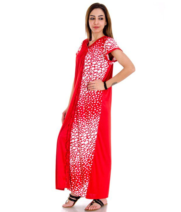 Home Shop Gift Red Satin Nighty. Buy Home Shop Gift Red Satin Nighty Online at Best Prices in India