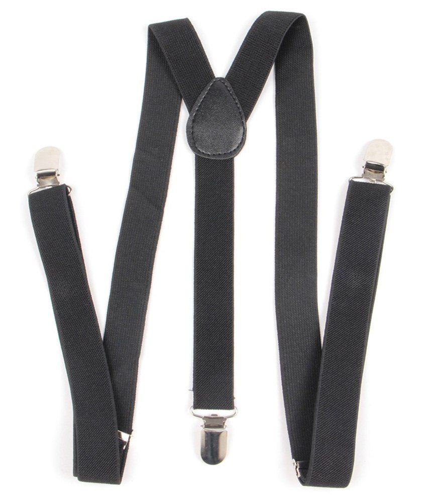 UltraTech Black Casual Suspender