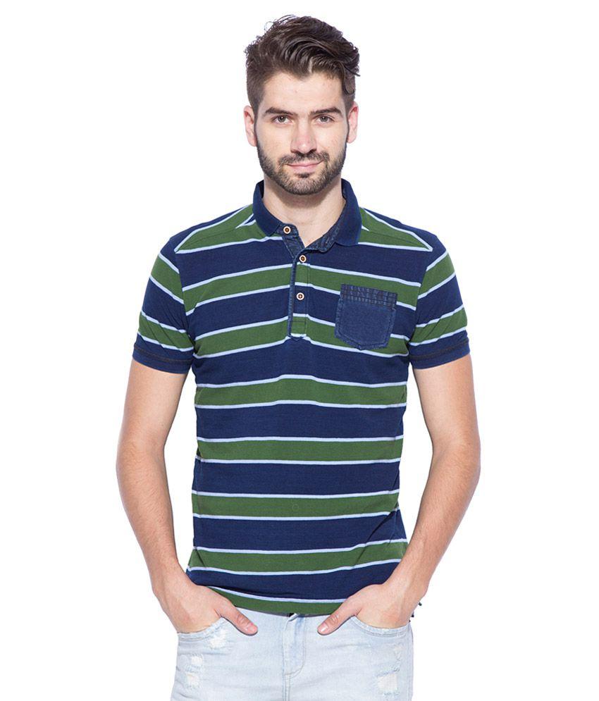 Mufti green polo neck t shirt buy mufti green polo neck for What is polo neck t shirts