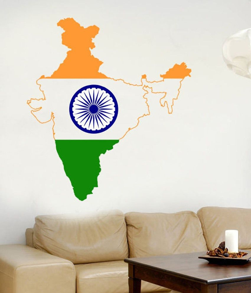 Impression wall pvc indian map sticker buy impression wall pvc indian map sticker online at best prices in india on snapdeal
