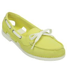 Crocs Yellow Casual Shoes Relaxed Fit