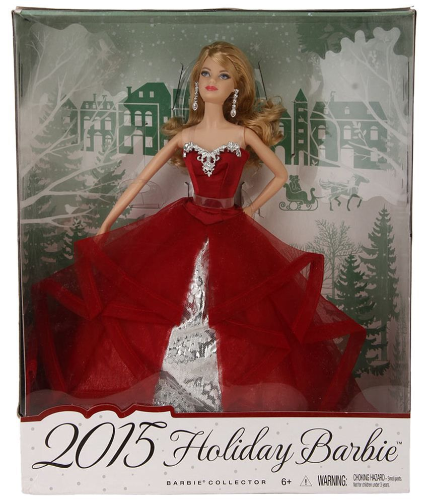 Barbie Imported Red Plastic Barbie Holiday Doll