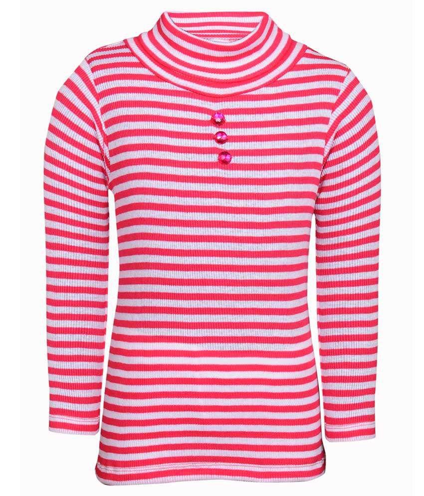 Bio Kid Girls High Neck Full Sleeve Sweatshirt