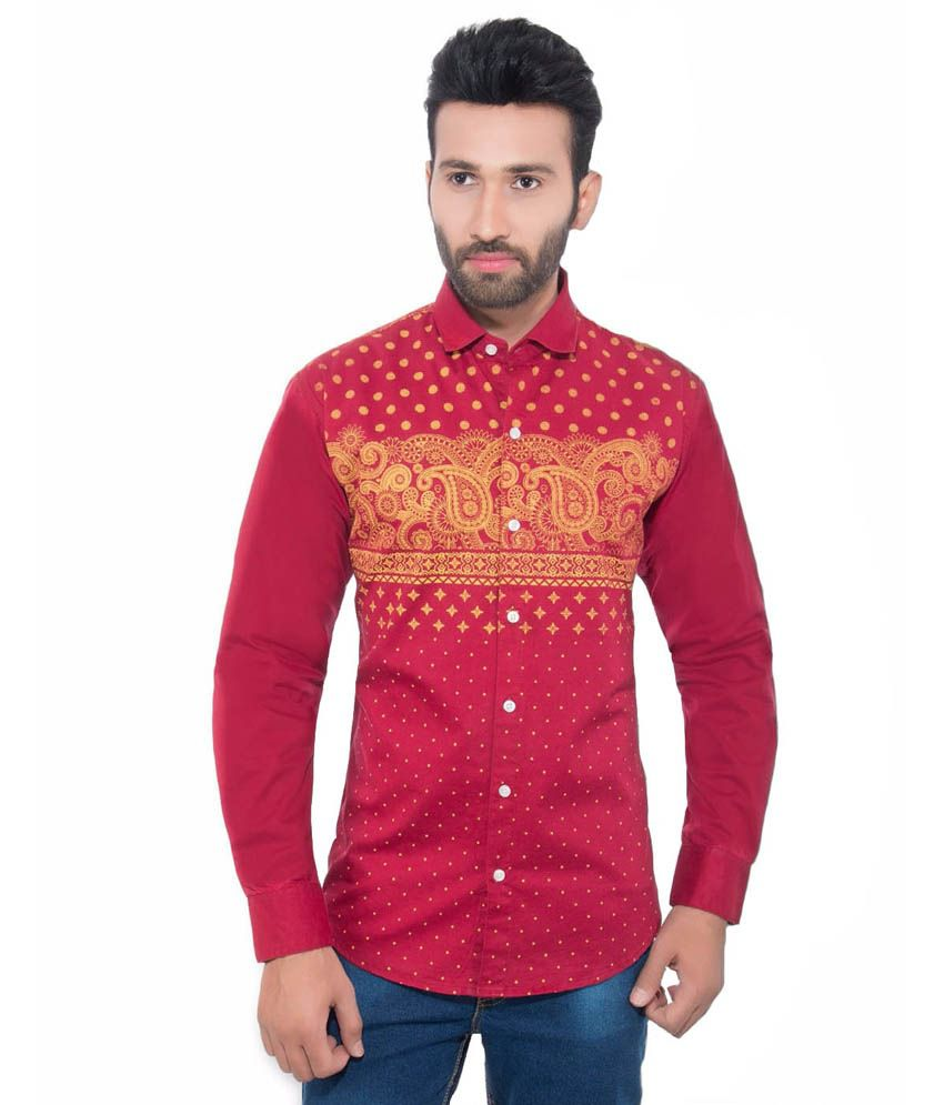 Goodkarma Red Slim Fit Shirt