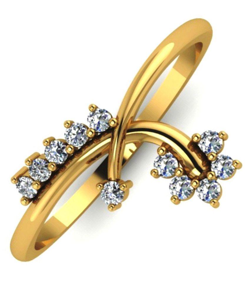 Gunjan Diamond 18kt Gold Diamond Ring
