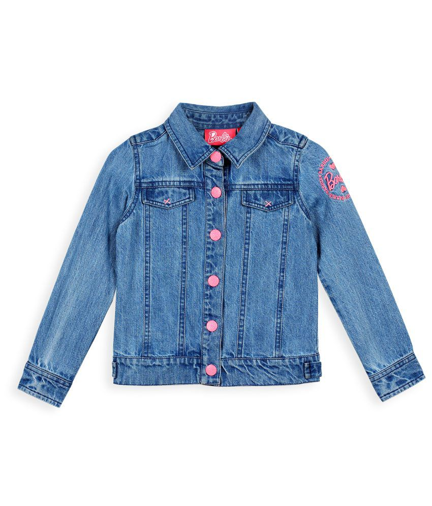 Barbie Blue Denim Jacket With Photo Print
