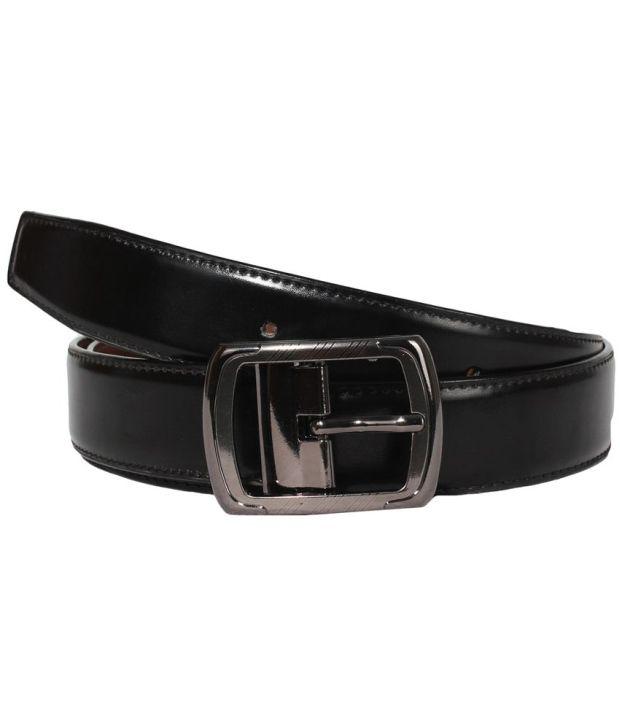 Klaska Superb Black Formal Belt For Men