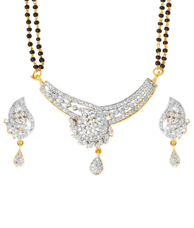 Handluv Golden American Diamond Alloy Mangalsutra Set