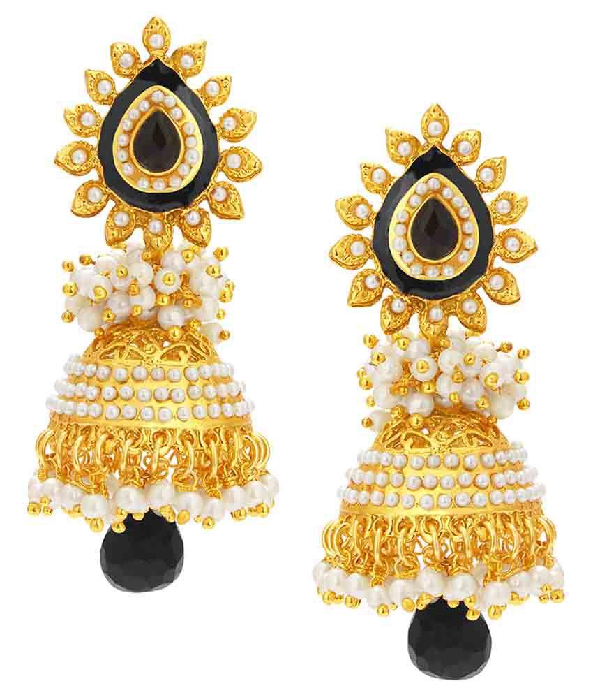 Sukkhi Golden Alloy Earrings