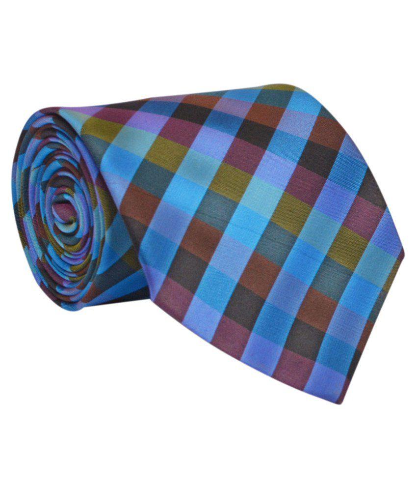 Calvadoss Multicolour Micro Fiber Broad Tie