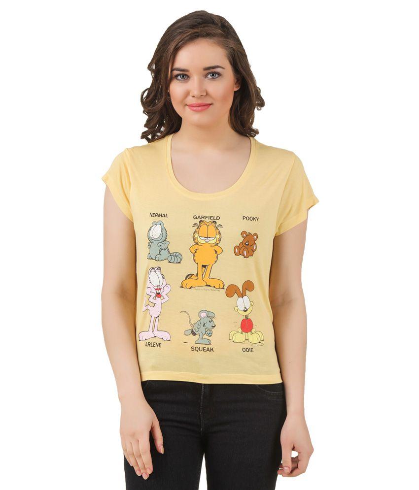 Garfield gold printed t shirt buy garfield gold printed for Get t shirts printed