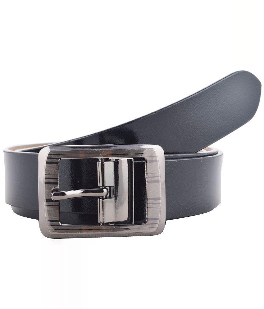 Black Bull Black Leather Belt for Men