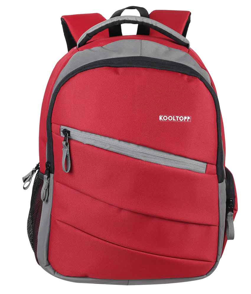 Kooltopp Red Polyester Backpack