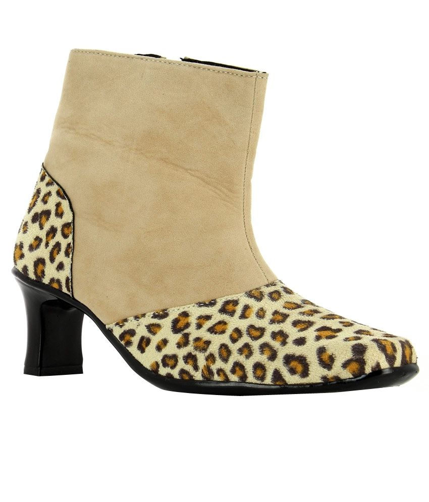Nell Beige Slouch Boots