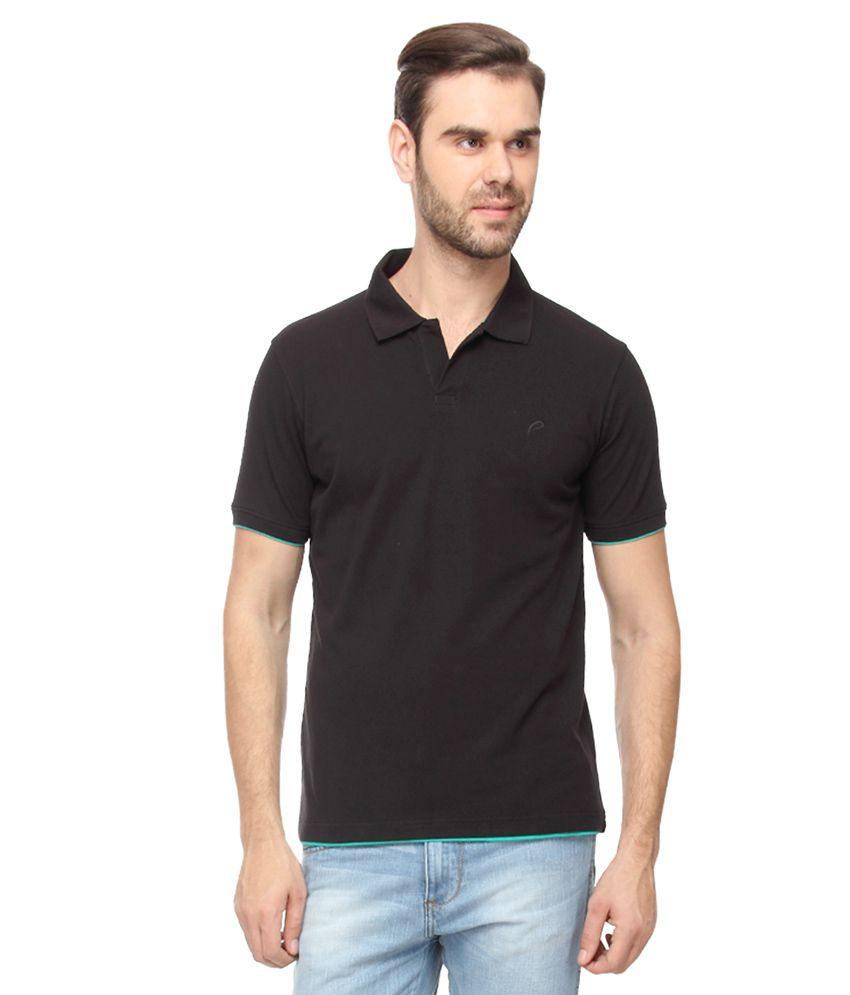 Proline Black Half Sleeves Polo T-Shirt