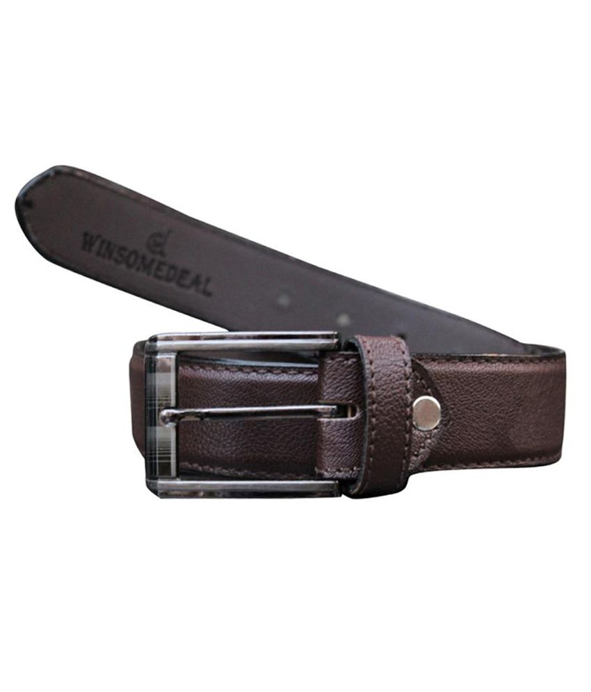Winsome Deal Brown Formal Belt For Men