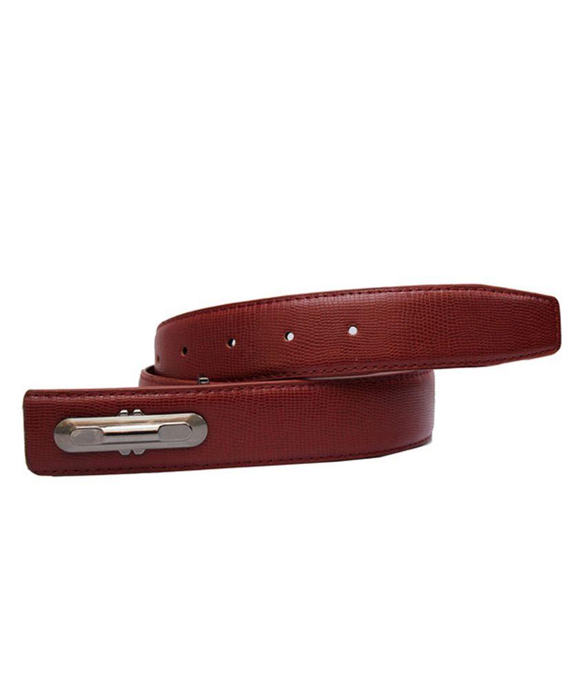 Winsome Deal Maroon Formal Belt For Men