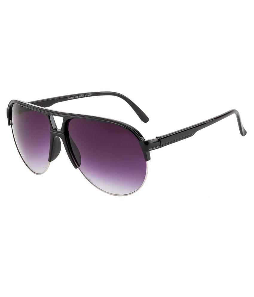 Crazy Eyez Purple Aviator Unisex Sunglasses