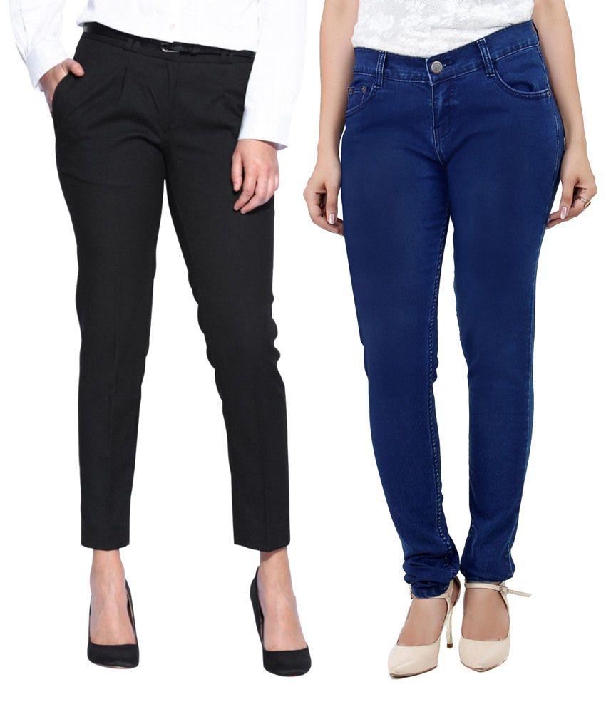 Haltung-Black-Cotton-Jeans
