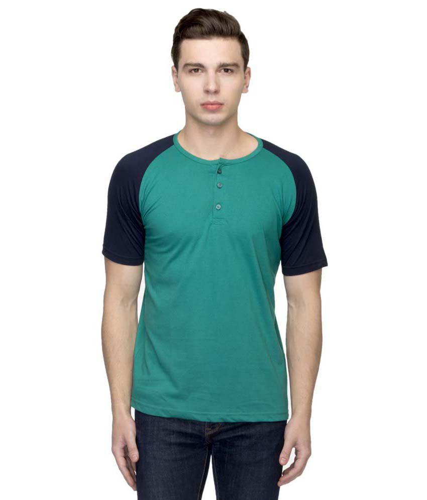 Martech Outstanding Green Cotton Half Sleeves T Shirt