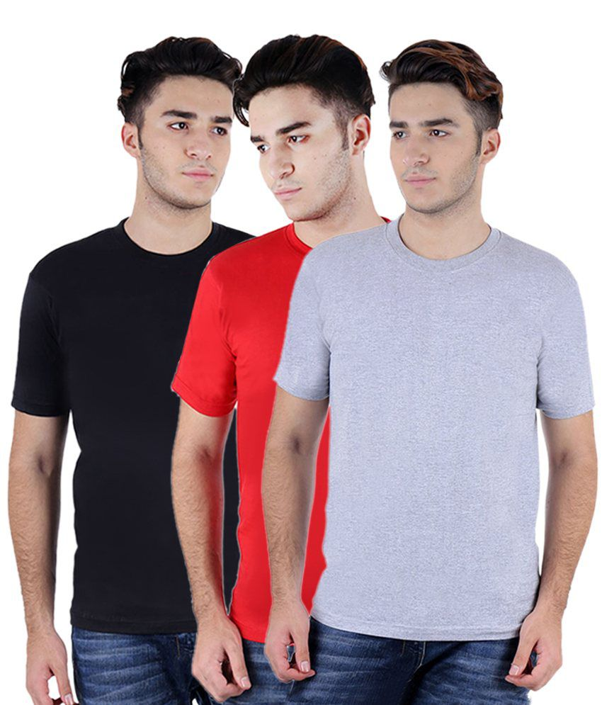 Rakshita's Collection Round T-shirts Combo Of 3