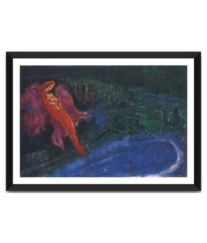 Tallenge Bridge Over The Seine By Marc Chagall Framed Art Print