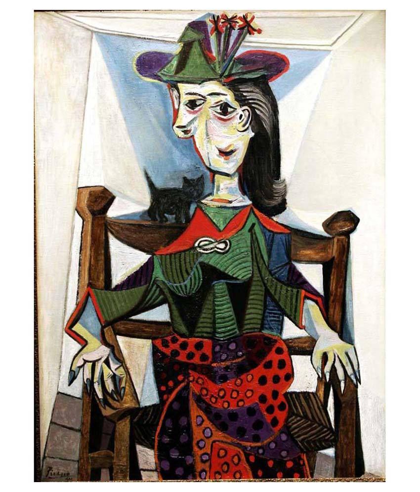 Tallenge Dora Maar Au Chat By Pablo Picasso Gallery Wrap Canvas Art Print