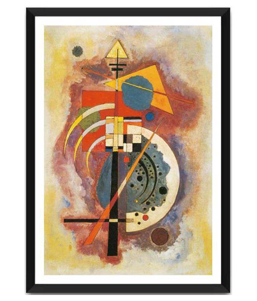 Tallenge Hommage A Grohmann By Wassily Kandinsky Framed Art Print
