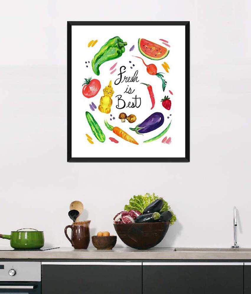 Tallenge Medium Red Art For Kitchen Fresh Is Best Framed Art Print