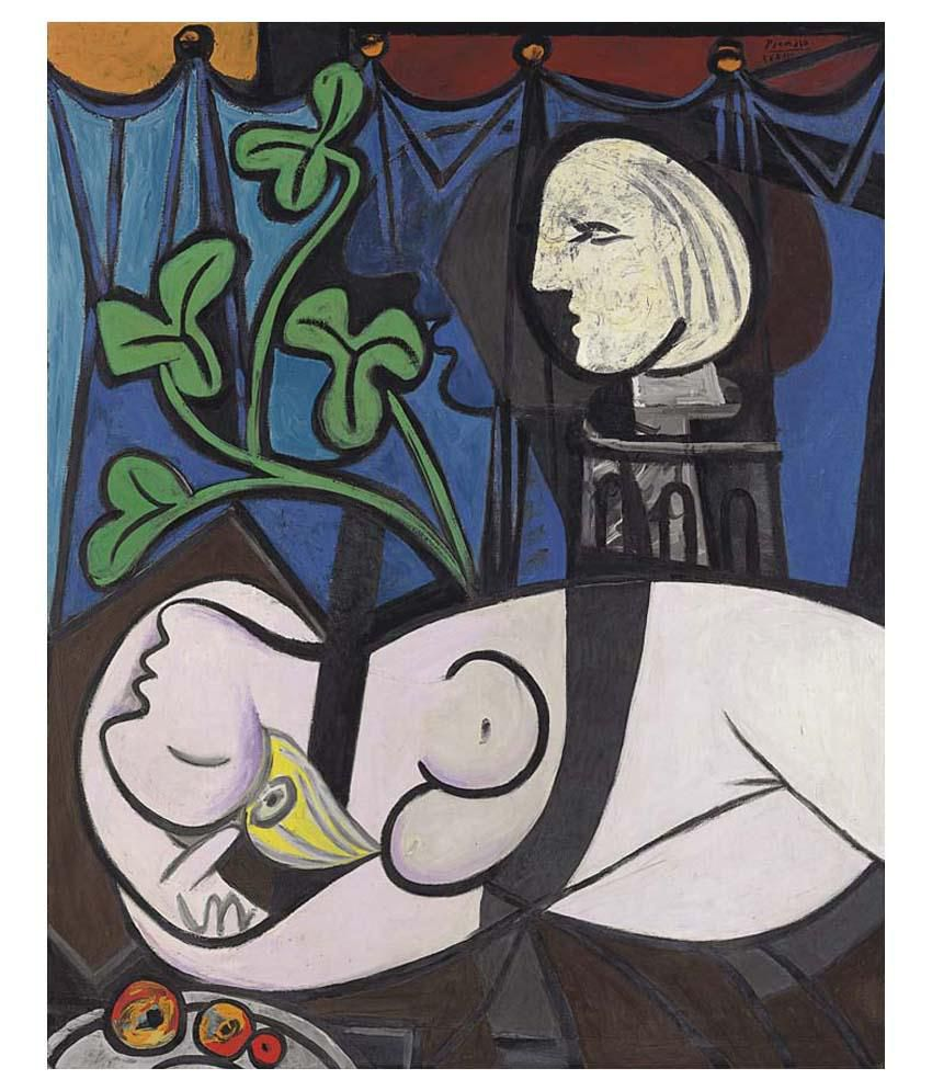 Tallenge Nude, Green Leaves And Bust By Pablo Picasso Gallery Wrap Canvas Art Print