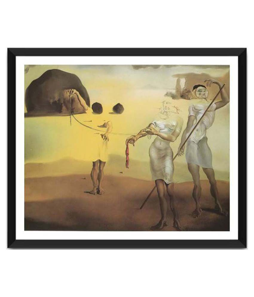 Tallenge Three Fluid Graces By Salvador Dali Framed Art Print