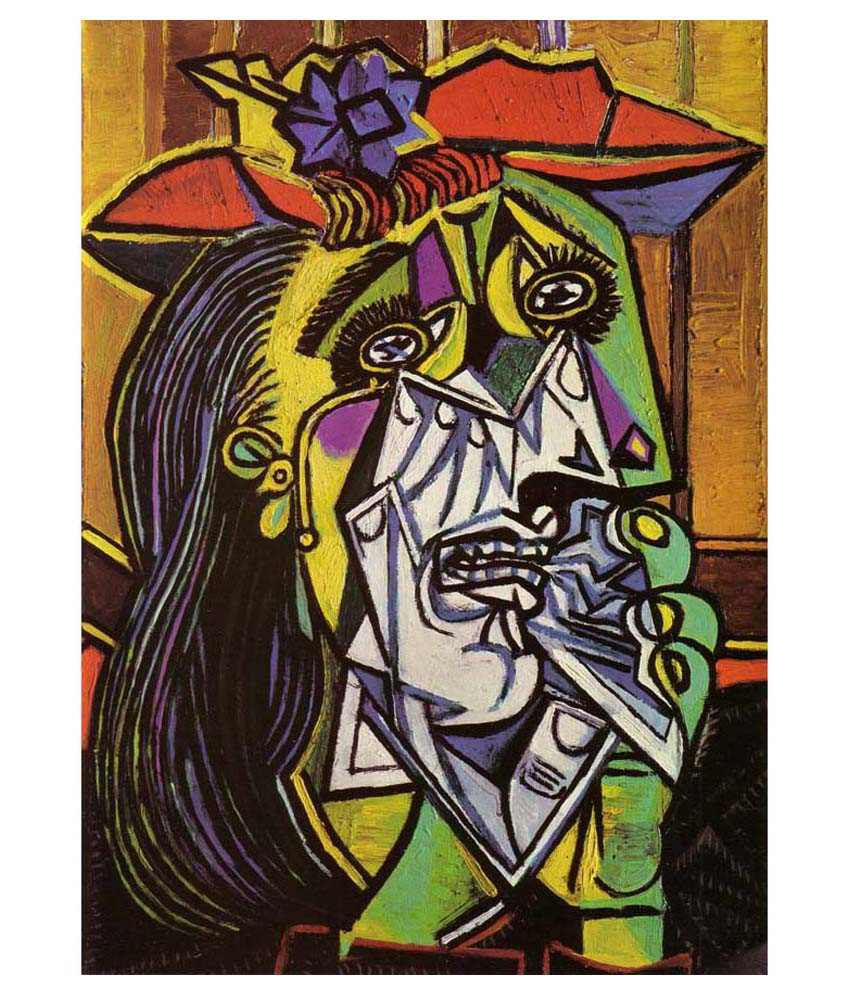 Picasso gallery wrap canvas art print buy tallenge weeping woman by pablo picasso gallery wrap canvas art print at best price in india on snapdeal