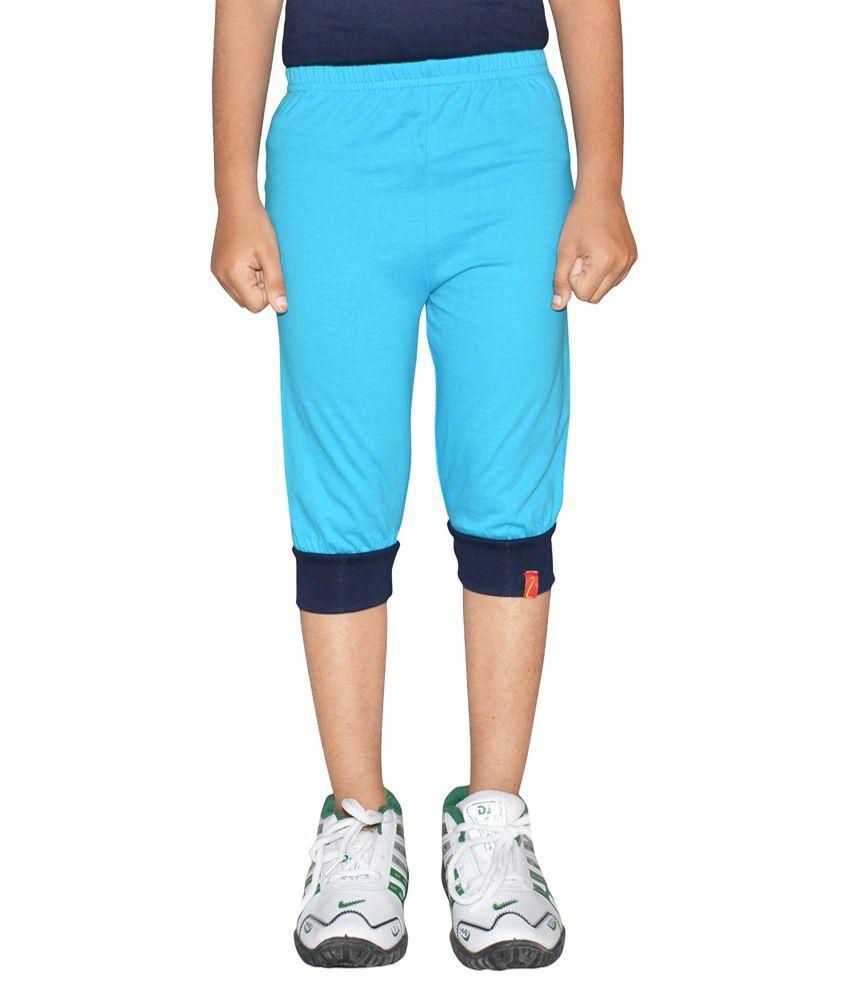Clever Blue Capri For Girls