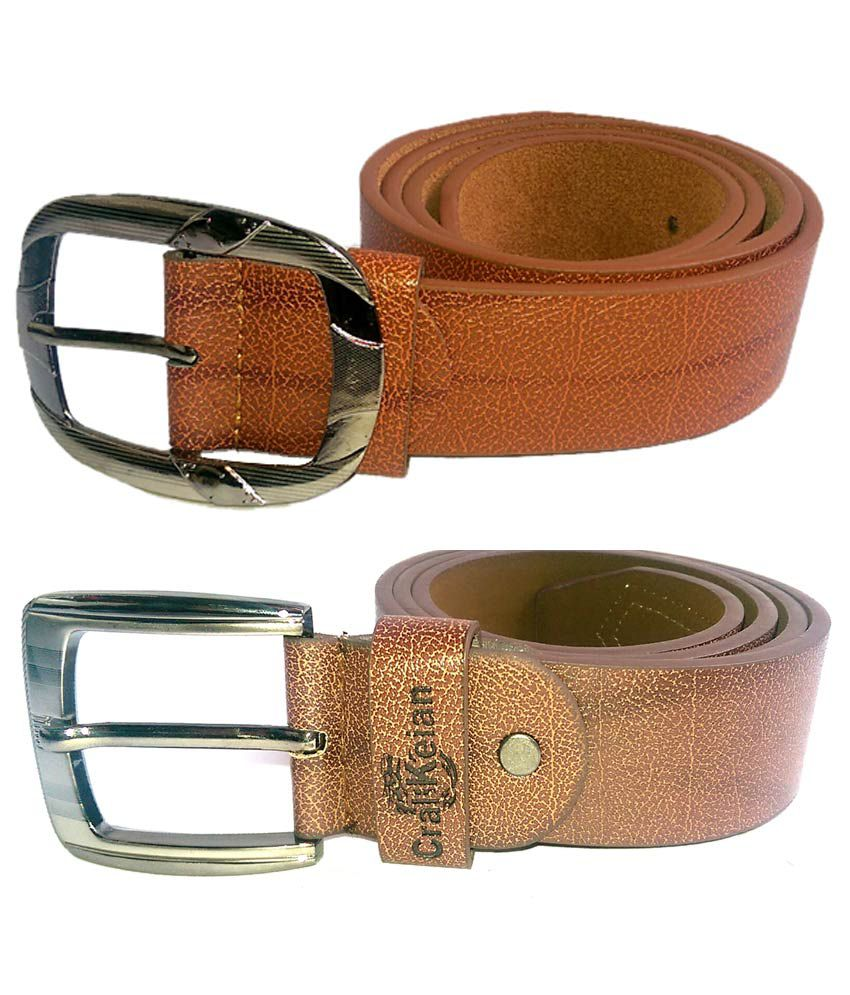 Cral Keian Brown Leather Belt for Men