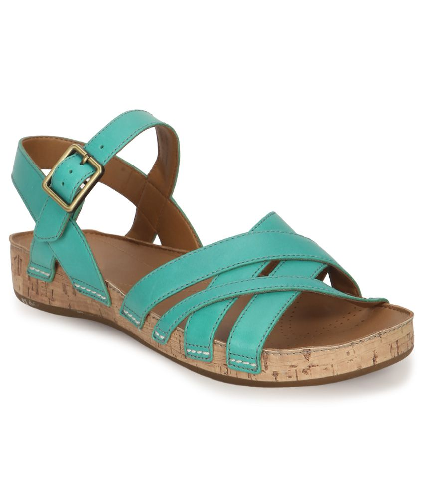 Clarks Teal Green Sandals